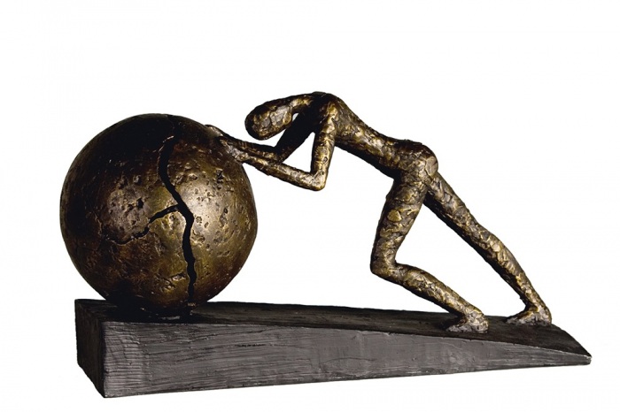 Figurina HEAVY BALL, rasina/metal, 37X21.5 cm 0