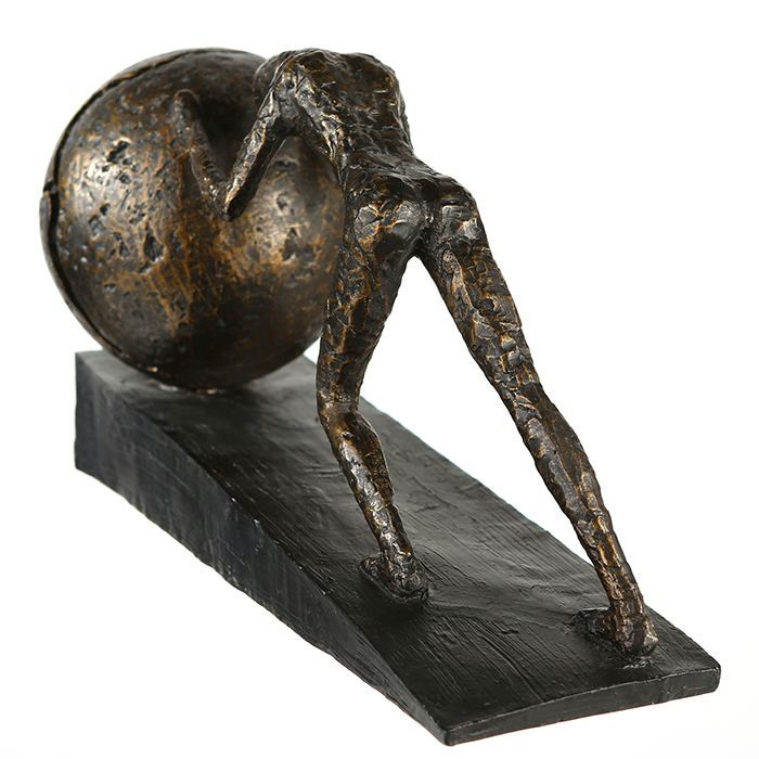 Figurina HEAVY BALL, rasina/metal, 37X21.5 cm 3