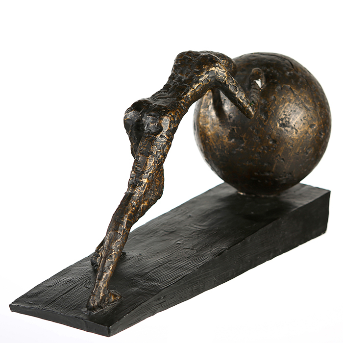 Figurina HEAVY BALL, rasina/metal, 37X21.5 cm 4