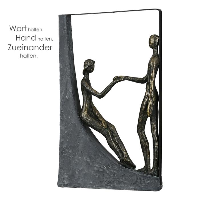 Figurina holding hands, rasina, bronz, 37x22x6.5 cm imagine 2021 lotusland.ro
