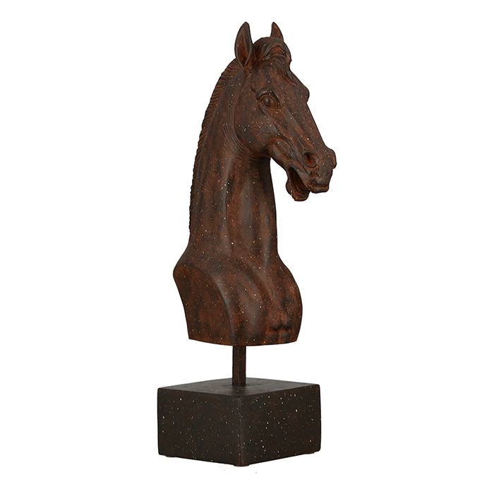 Figurina Horse, maro , rasina, 42.5x12x20 cm 2021 lotusland.ro