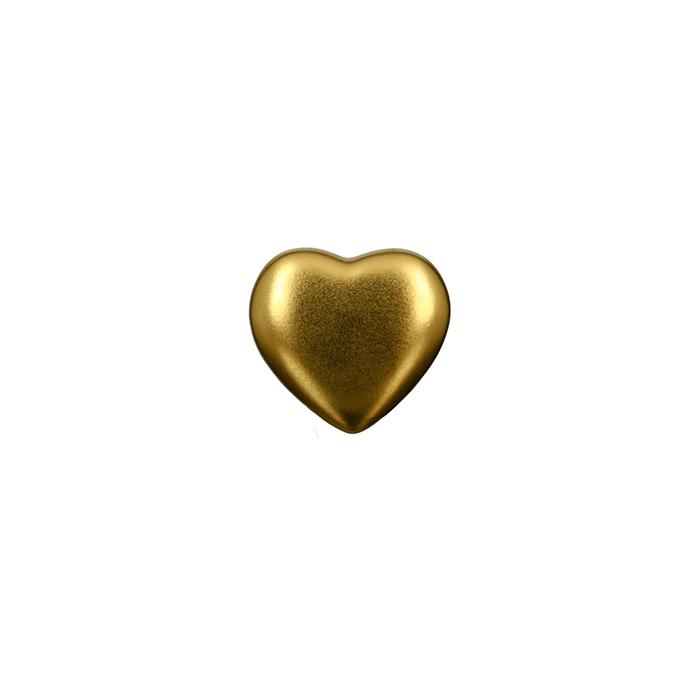 Figurina inima, ceramica, auriu, 6.5x2.5 cm lotusland.ro