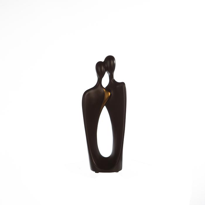 Figurina Kadoma, ceramica, negru auriu, 10x25.5x5 cm 2021 lotusland.ro