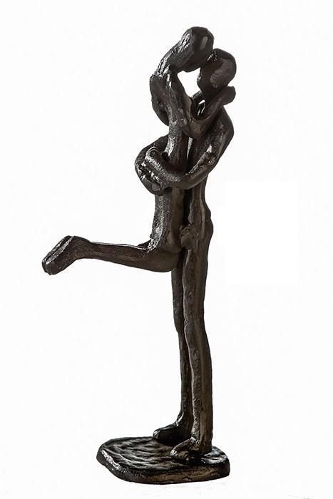 Figurina KISSING, metal, 19x8X5 cm lotusland.ro