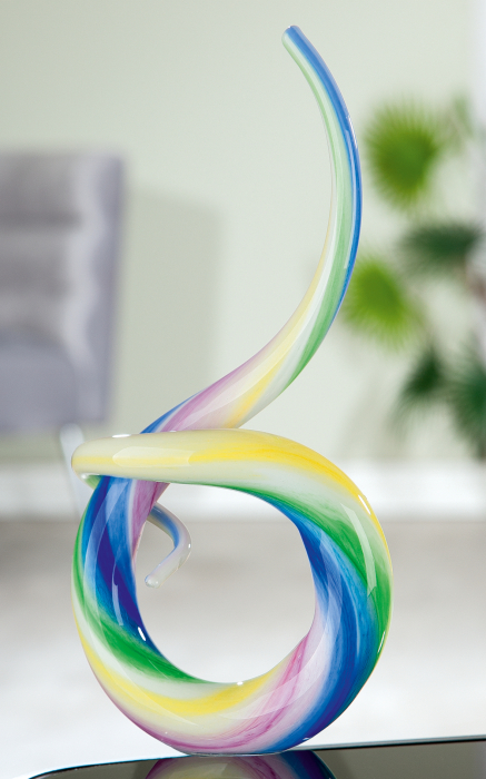 Figurina Looping, sticla, multicolor, 14x30x6 cm 2021 lotusland.ro