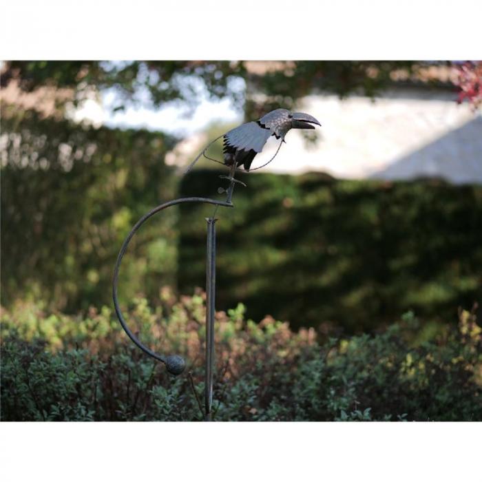 Figurina metal Balance bird, 135x12x25 cm 2021 lotusland.ro