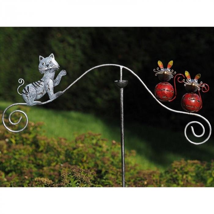 Figurina metal Balance cat and mouse, 135x65x11 cm imagine 2021 lotusland.ro