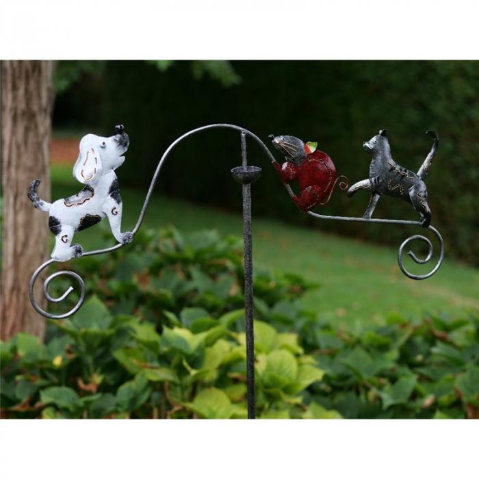 Figurina metal Balance, kat, mouse, dog, 130x3x60 cm lotusland.ro