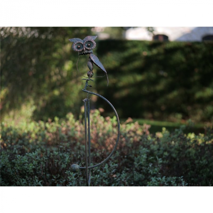 Figurina metal Balance owl, 135x30x40 cm lotusland.ro