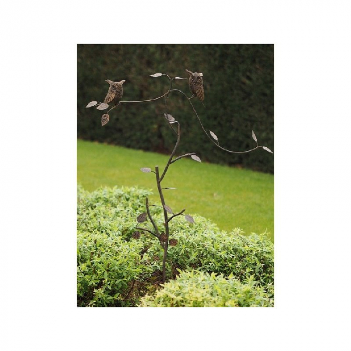 Figurina metal Balance owls, 135x15x85 cm 2021 lotusland.ro