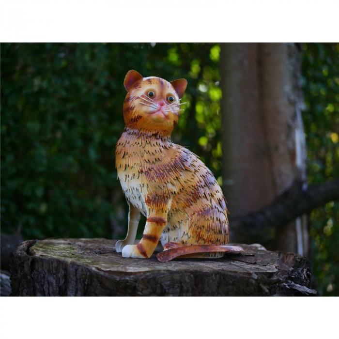 Figurina metal Cat, 32x18x24 cm lotusland.ro