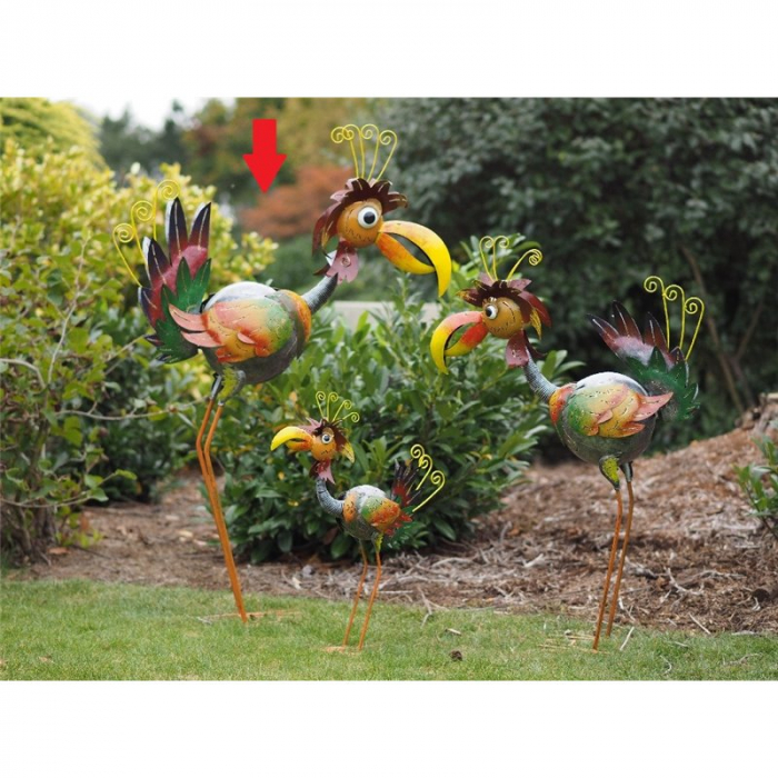 Figurina metal Colourful bird 2, 125x28x86 cm imagine 2021 lotusland.ro