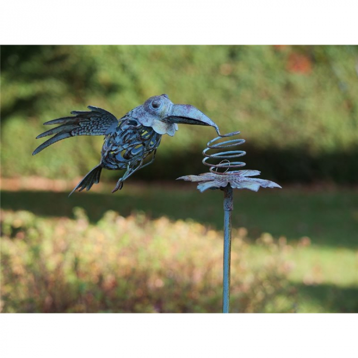 Figurina metal Flying bird, 130x30x27 cm 2021 lotusland.ro