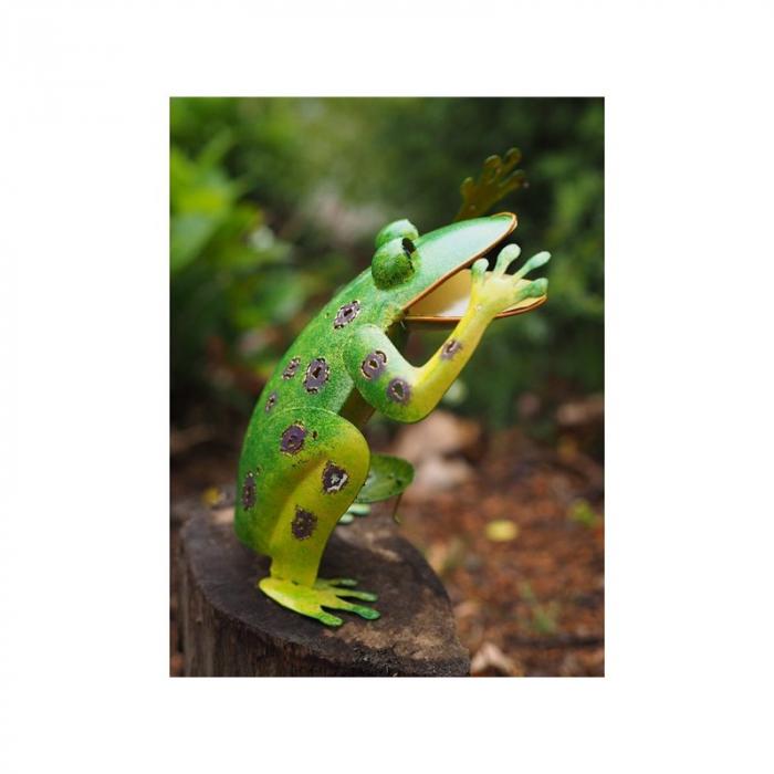 Figurina metal Frog, 22x10x19 cm lotusland.ro