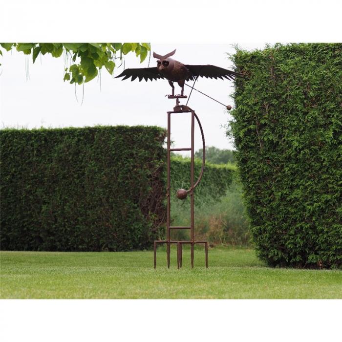 Figurina metal Giant flying owl, 190x80x150 cm lotusland.ro