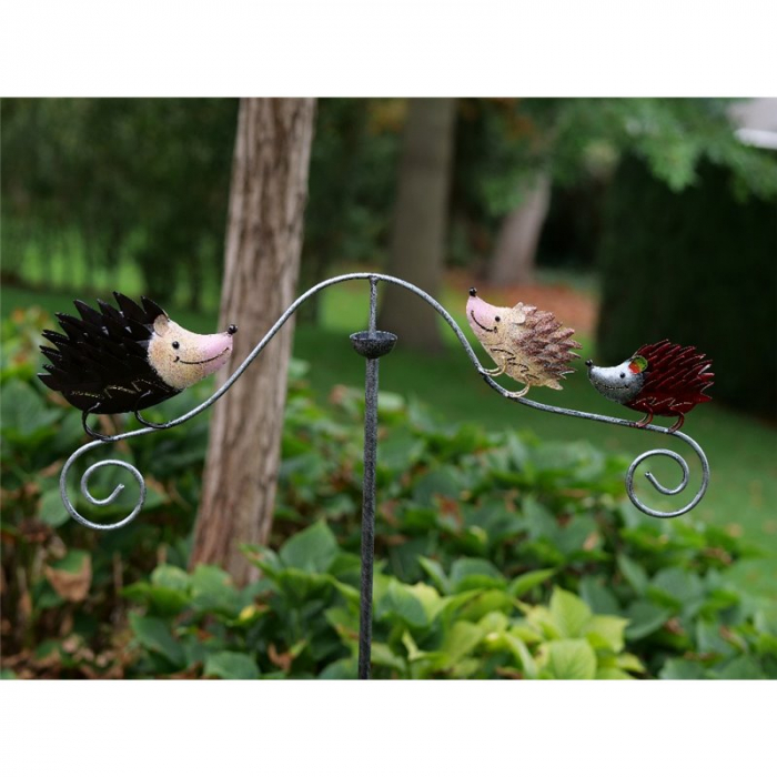 Figurina metal Hedgehogs, 130x3x60 cm 2021 lotusland.ro