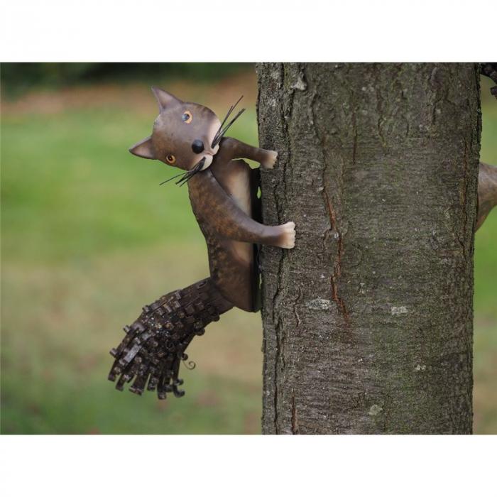 Figurina metal Metal Squirrel Tree Decoration, 25x10x22 cm imagine 2021 lotusland.ro