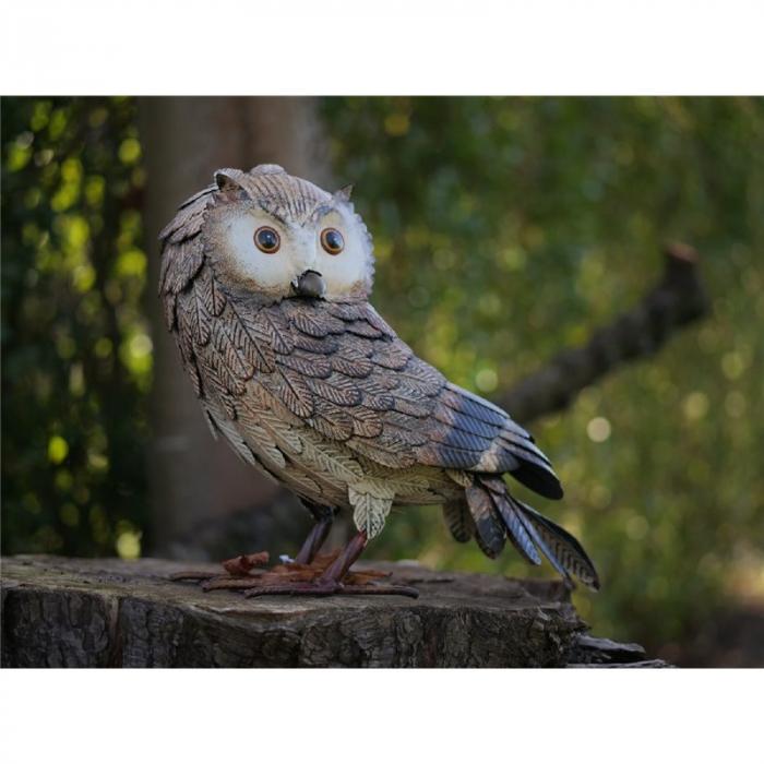 Figurina metal Owl, 31x18x32 cm lotusland.ro