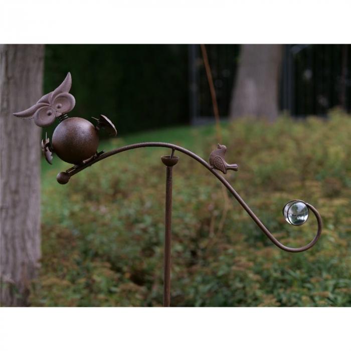 Figurina metal Owl Balance, 130x10x50 cm 2021 lotusland.ro