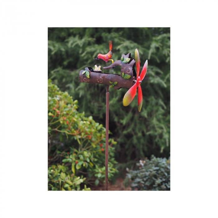 Figurina metal Whirlygig squirrel, 143x39x39 cm lotusland.ro