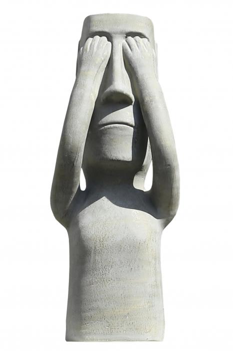 Figurina Nothing see, ceramica, gri, 26x63.5x18 cm 2021 lotusland.ro