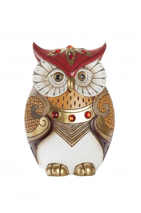 Figurina owl Amaranth, rasina, multicolor, 13.5x19x9 cm lotusland.ro