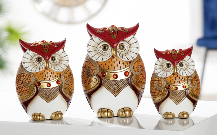Figurina owl Amaranth, rasina, multicolor, 9.5x14x6 cm imagine 2021 lotusland.ro