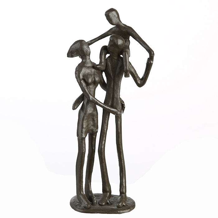 Figurina PARENTS, metal, 19x8X5 cm 1
