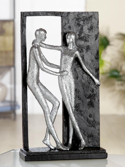 Figurina Promises, rasina, argintiu gri, 16x27x6.5 cm imagine 2021 lotusland.ro