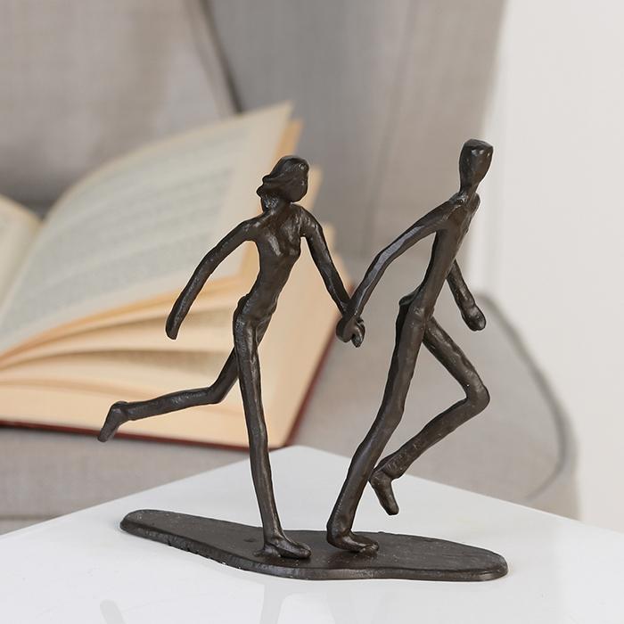 Figurina RUNNING, metal, 18x17X7 cm 2