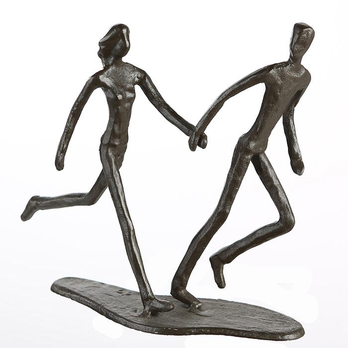 Figurina RUNNING, metal, 18x17X7 cm 1