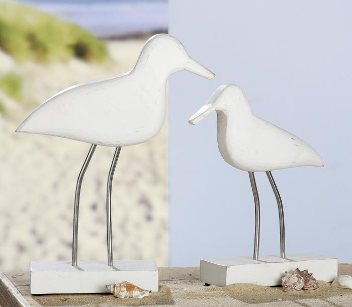 Figurina Seagull, lemn, alb, 15x24x7 cm lotusland.ro