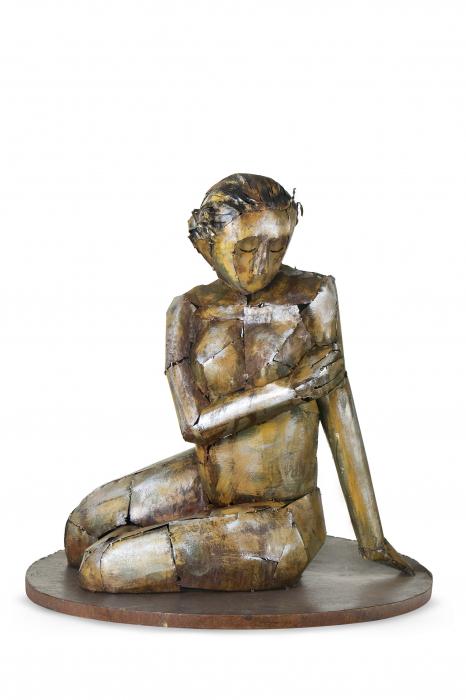 Figurina SENSUAL BEAUTY, metal, lucrat manual, 66X68X66 cm 1