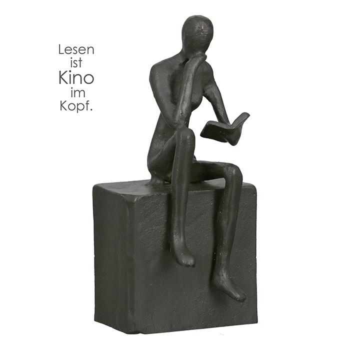 Figurina suport carti Readable, rasina, bronz, 16x6.5x6 cm imagine 2021 lotusland.ro