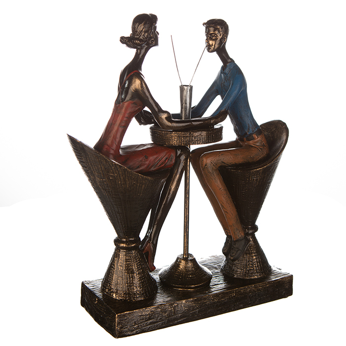 Figurina TABLE FOR TWO, rasina, 25x21x8 cm 5