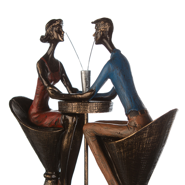 Figurina TABLE FOR TWO, rasina, 25x21x8 cm 3