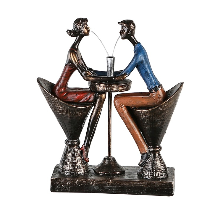 Figurina TABLE FOR TWO, rasina, 25x21x8 cm 0