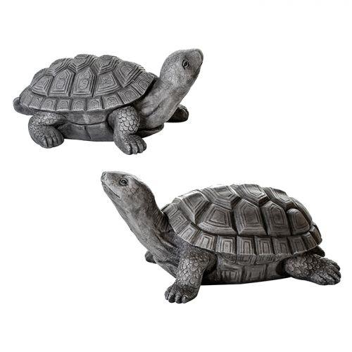 Figurina turtle, compozit, gri, 30x55x24 cm lotusland.ro