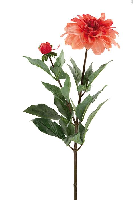Floare DAHLIE, fibre sintetice, 70 cm imagine 2021 lotusland.ro