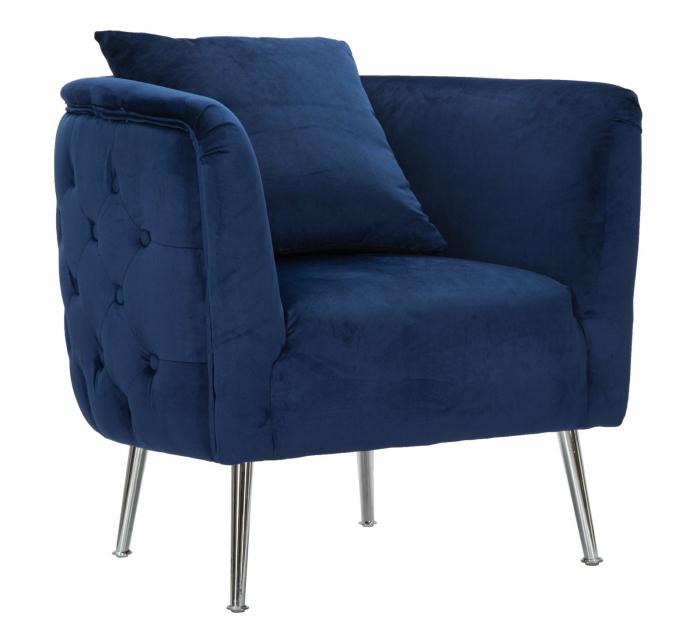 Fotoliu BUCHAREST, albastru, 76X74X73 cm, Mauro Ferretti 0