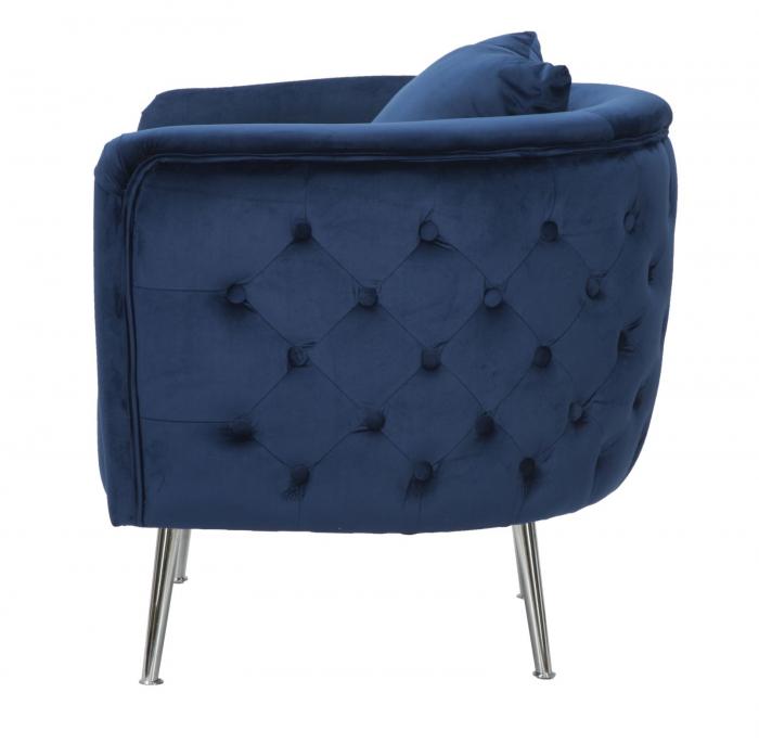 Fotoliu BUCHAREST, albastru, 76X74X73 cm, Mauro Ferretti 2