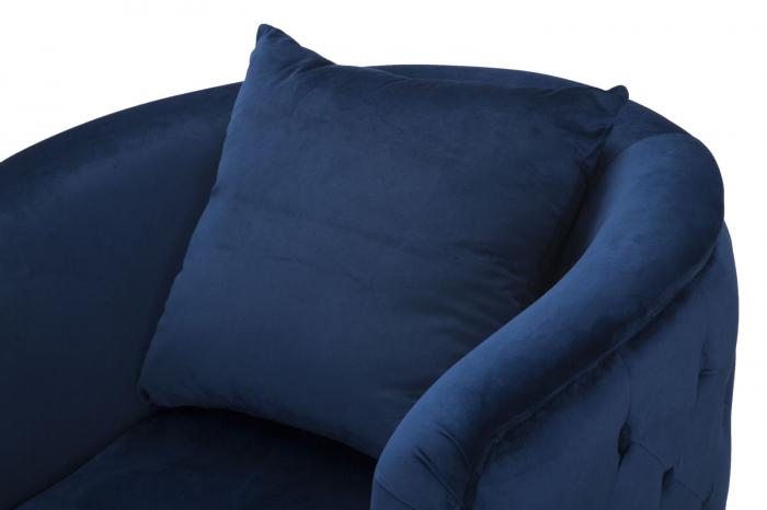 Fotoliu BUCHAREST, albastru, 76X74X73 cm, Mauro Ferretti 6