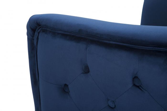 Fotoliu BUCHAREST, albastru, 76X74X73 cm, Mauro Ferretti 5