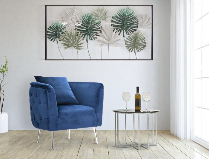 Fotoliu BUCHAREST, albastru, 76X74X73 cm, Mauro Ferretti 8