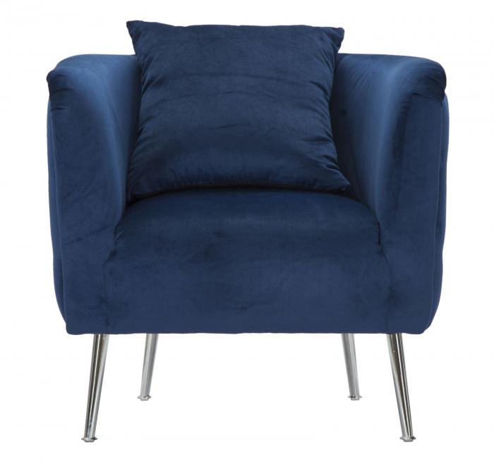 Fotoliu BUCHAREST, albastru, 76X74X73 cm, Mauro Ferretti 3