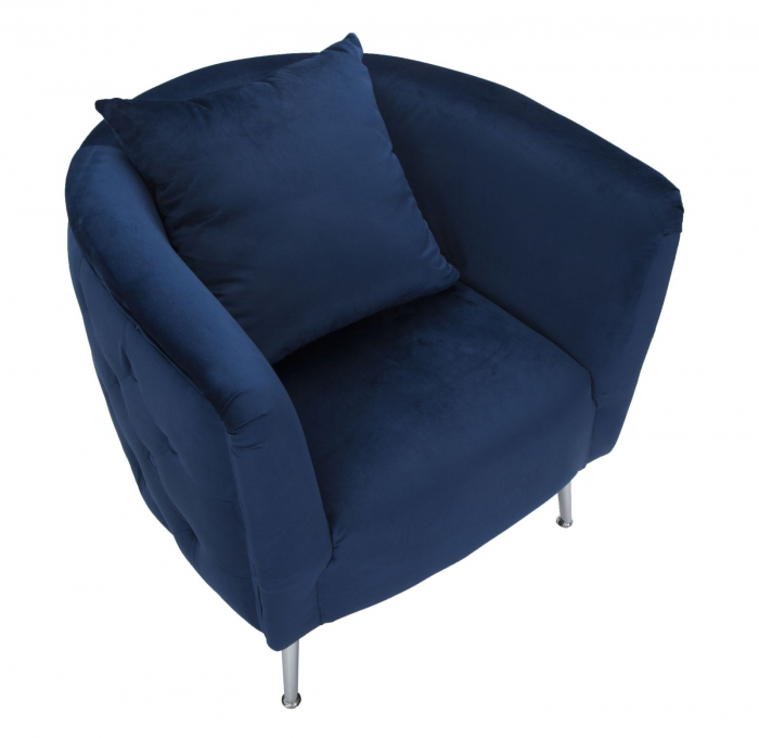 Fotoliu BUCHAREST, albastru, 76X74X73 cm, Mauro Ferretti 4
