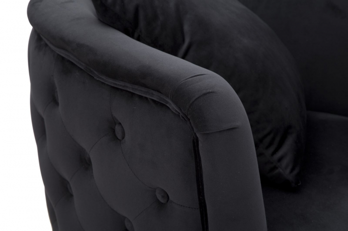 Fotoliu BUCHAREST, Negru, 76x74x71 cm, Mauro Ferretti 5