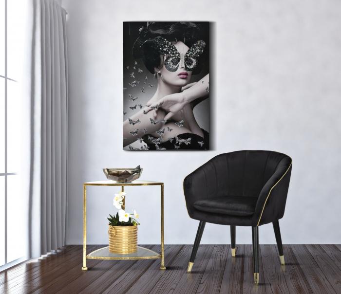 Fotoliu PARIS, negru, 62X58X78 cm, Mauro Ferretti 7
