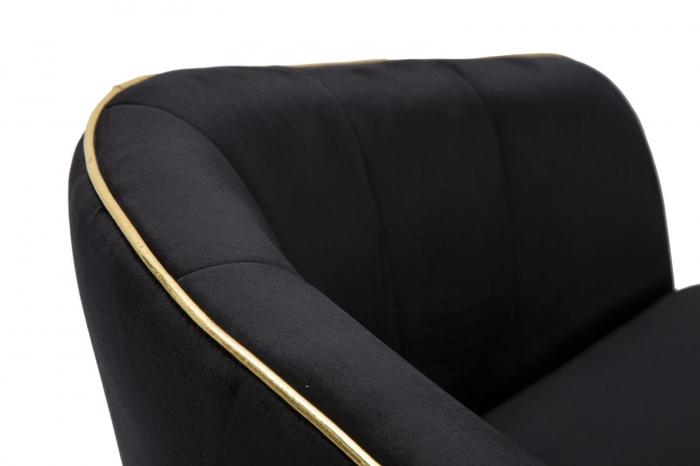 Fotoliu PARIS, negru, 62X58X78 cm, Mauro Ferretti 6