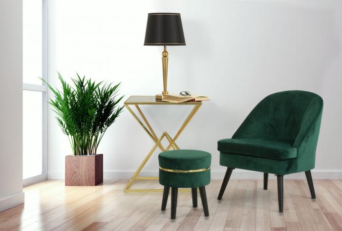 Taburet PARIS, verde, 35X40.5 cm, Mauro Ferretti 7